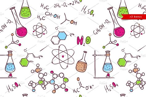 sketch the pattern of atoms in the 111 plane of the ordered hand draw chemistry patterns creative market
