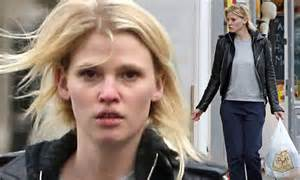 Cheap Bed Linen Uk - lara stone goes make up free as she runs errands in a biker jacket in london daily mail online