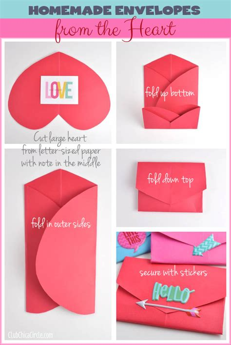 how to make envelopes heart shaped envelope pattern crafts
