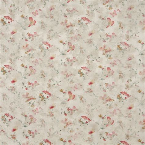 Butterfly Upholstery Fabric F812 Gold Ivory Pastel Butterfly Flower Upholstery