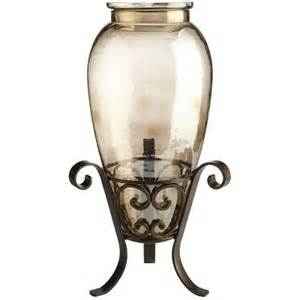 luster vase with iron stand pier 1 imports