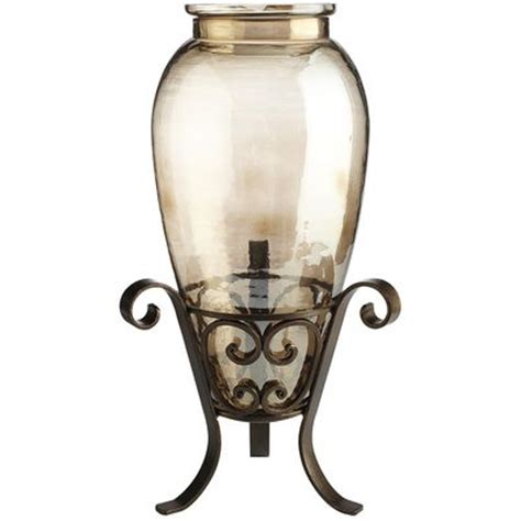 Floor Vase With Stand by Luster Vase With Iron Stand Pier 1 Imports