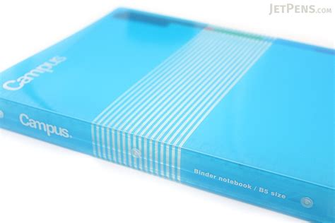 Binder 26ring Zebra Bludru Kokuyo Cus Slide Binder B5 26 Rings Light Blue