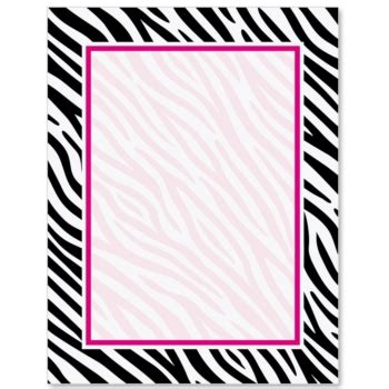 zebra printer templates for word zebra print paperframes border papers paperdirect