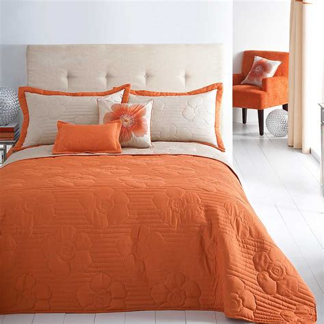 orange bedding orange bedspread pillowshams by kaleidoscope kaleidoscope