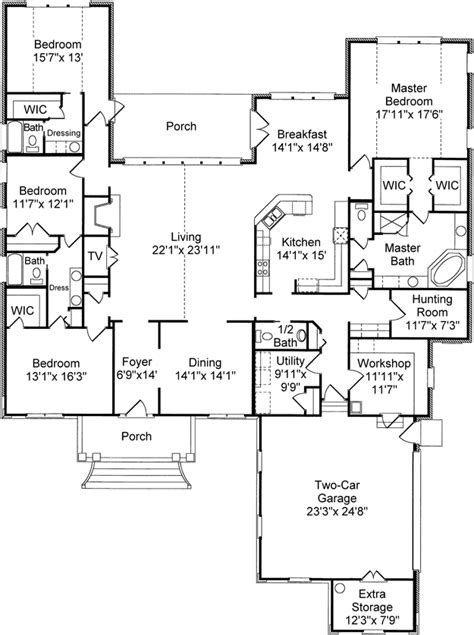 house plans with bonus rooms house plans home plans and floor plans from ultimate plans can hunting room be