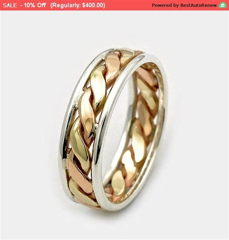 mens wedding bands s day sale 9ct twist gold ring