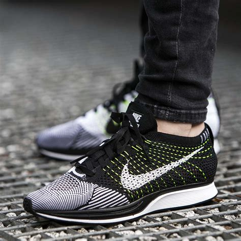 Sneakers Sepatu Nike Airforce Flyknit Racer Black White Premium up look at the nike flyknit racer black white fastsole co uk