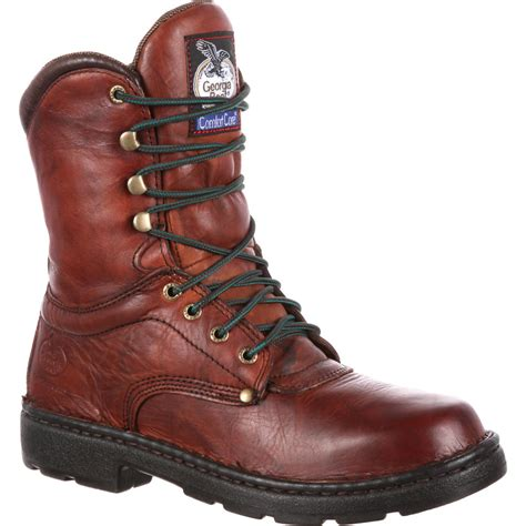 light comfortable work boots georgia eagle light men s comfort work boot style g8083