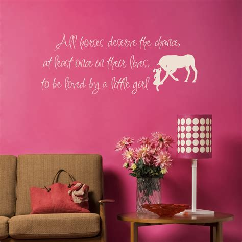 horse decal pony quote wall sticker teen girls room decal mix wholesale order love horse girls western wall sticker