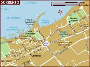Sorrento Italy Map by Map Of Sorrento