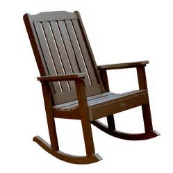 patio rocking chair shop highwood usa lehigh weathered acorn plastic patio