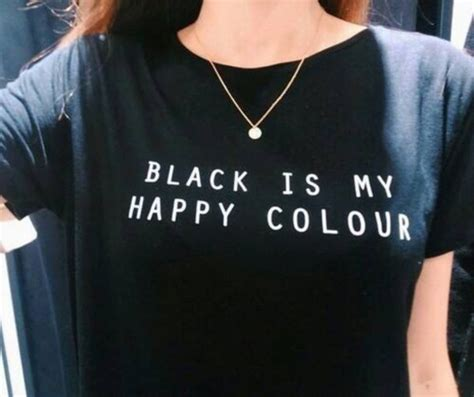 what color is my shirt black is my happy color letter unisex black o