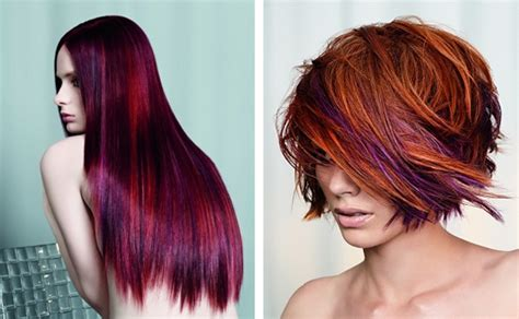 i would love to have this hair color beauty red and purple hair love hair pinterest