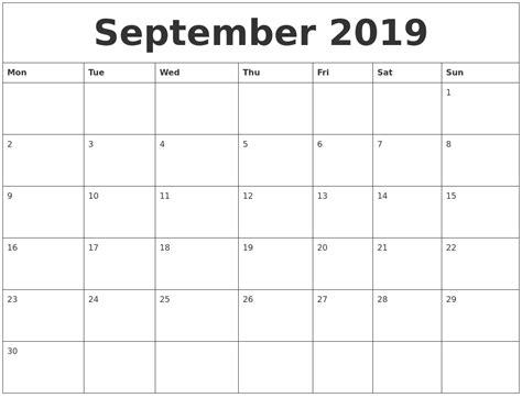 september 2019 calendar september 2019 calendar pages
