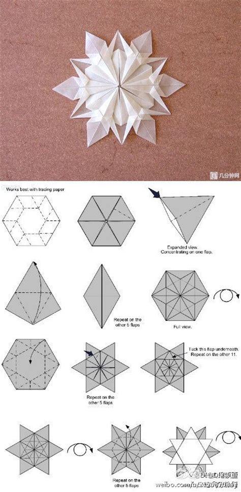 Paper Folding Snowflakes - origami snowflakes origami