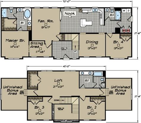 carolina modular home floor plans newton 2 story