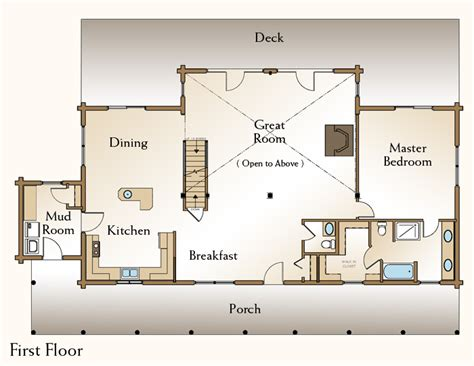 the grand isle log home floor plans nh custom log homes