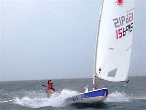 sailboat speed laser speed record holding at 16 8 knots shoreline