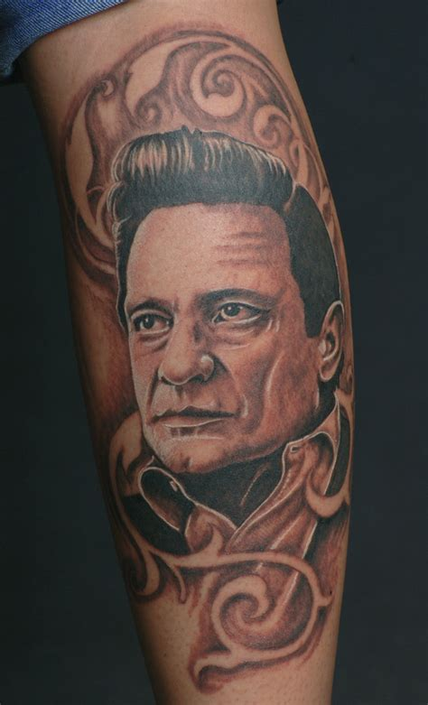johnny tattoo pictures tattoo johnny cash portrait by catbones on deviantart