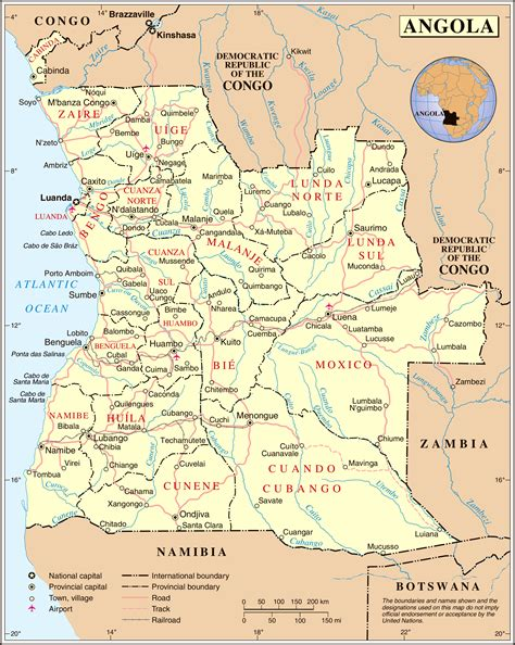 angola map large administrative and political map of angola with roads angola large administrative and