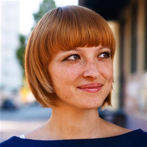 chin length bob haircut with bangs for women over 40 the cutest chin length bob with bangs