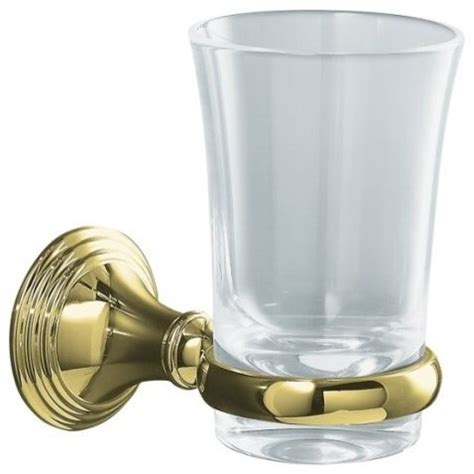 polished brass bathroom accessories kohler k 10561 pb devonshire tumbler and holder in