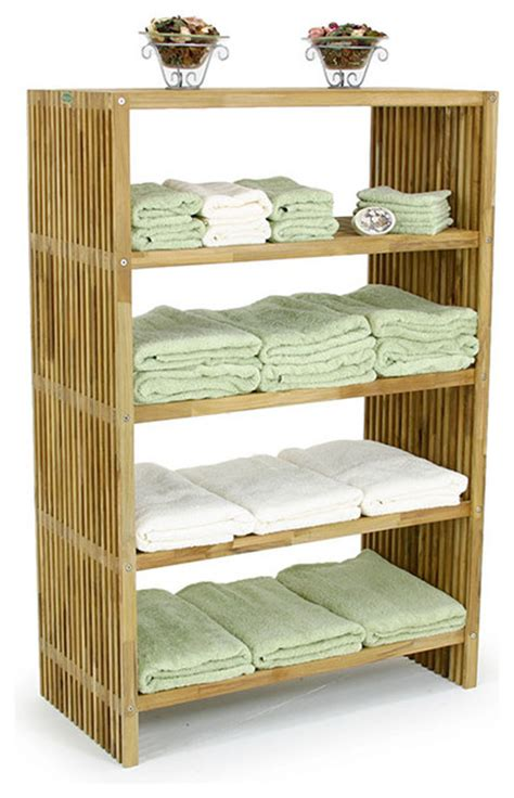Bathroom Towel Storage Shelves Westminster Teak Storage Floor Towel Shelf Modern Bathroom Cabinets And Shelves Orange