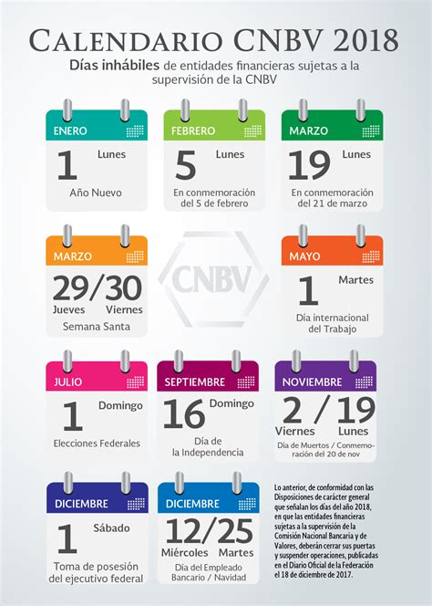 fechas presentacion informacion exogena ao 2016 calendario cnbv 2018 comisi 243 n nacional bancaria y de