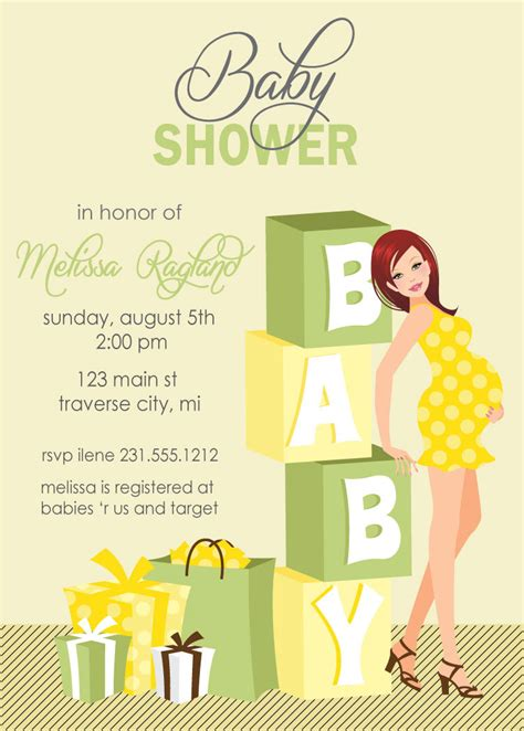 blocks baby shower invitations gender neutral also