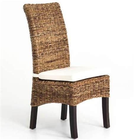 Banana Leaf Dining Chair Banana Leaf Woven Side Chair With Cushion Zin Home