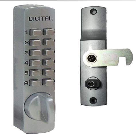 digital door lock mechanical keyless cabinet surface mount