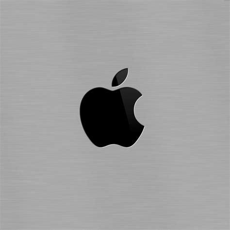 computers black apple logo  brushed metal ipad