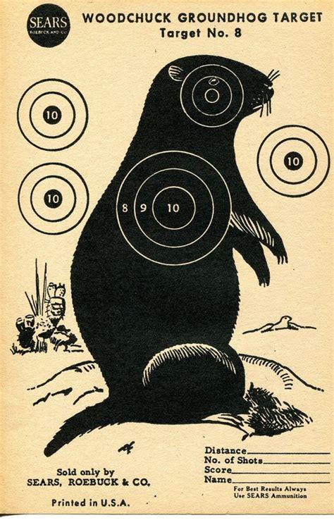 printable groundhog targets shooting targets shooting and target on pinterest
