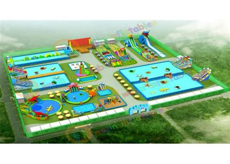inflatable backyard water park 25m outdoor inflatable water parks with plato pvc tarpaulin 0 9mm