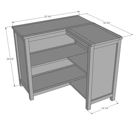 Corner Kitchen Cabinet Plans Free Woodworking Projects Corner Bookcase Plans