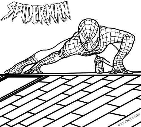 spiderman coloring page printable spiderman coloring pages for kids cool2bkids