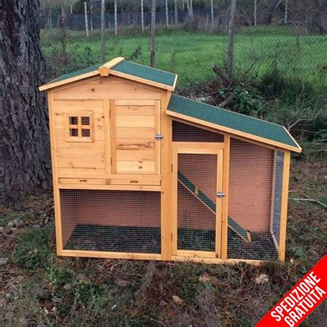 gabbie per cani da esterno conigliera da esterno in legno con recinto e casetta per