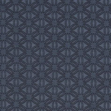 Matelasse Upholstery Fabric by Blue Small Scale Flower Woven Matelasse Upholstery Grade