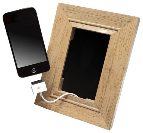 contemporary desk accessories wood frame mobile phone holder contemporary desk