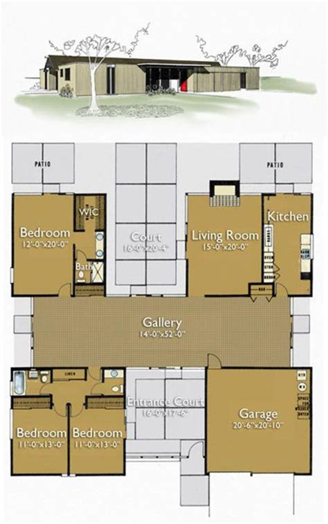 eichler homes floor plans house plans on pinterest floor plans house plans and