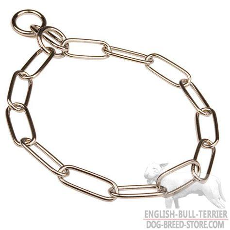 metal collars buy chrome plated bull terrier choke collar fur saver