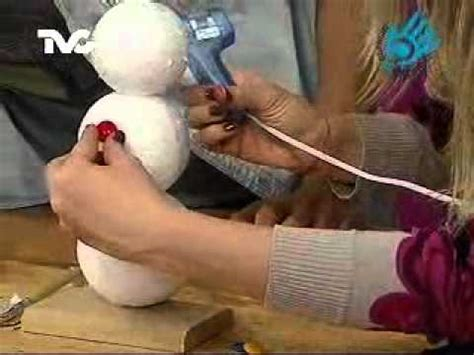 como hacer un snowman de fomi c 243 mo hacer un mu 241 eco de nieve ec youtube