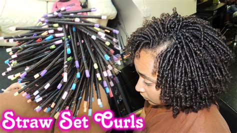 Straw Set Hairstyles by 561 Straw Set On Hair Style Demo