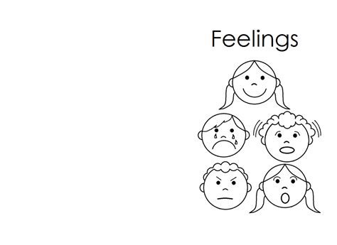 Feelings Coloring Pages For Kids Coloring Home Emotions Coloring Page