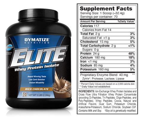 Elite Whey Dymatize Dymatize Elite Whey A Protein Supplement Without Sugar