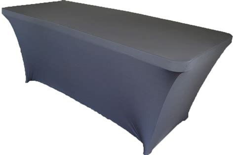 8 ft rectangular pewter spandex table covers
