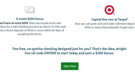 Capital One Bank Letter Of Credit Ymmv Capital One 360 200 Nationwide Checking Bonus