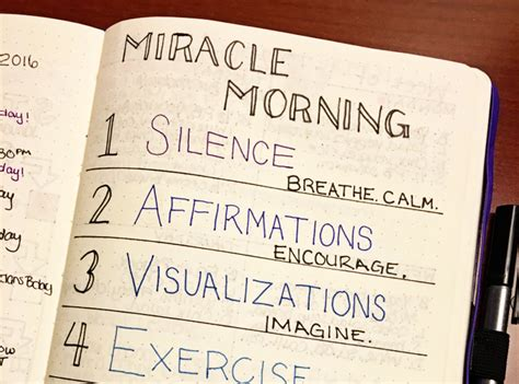 miracle morning and bullet journal mindful planning