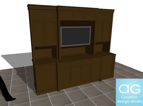 free interior 3d tv counter concept ag cad designs